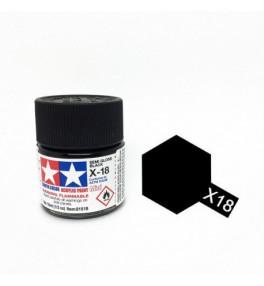 Peinture Tamiya X-18 Noir Satiné Brillant 10ml