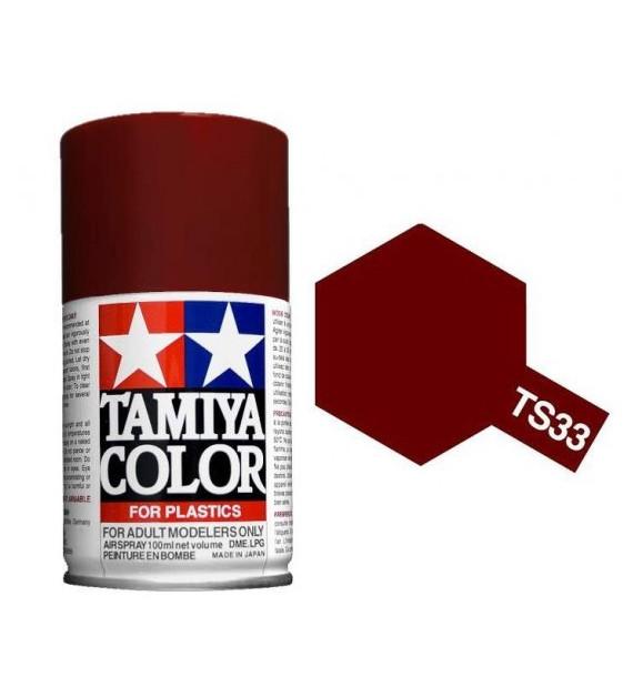 Bombe Peinture Tamiya  TS-33 Rouge Terne Mat 100ml