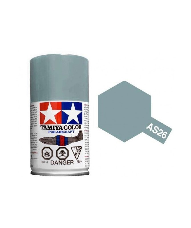 Bombe Peinture Tamiya  AS-26 Gris Claire 100ml