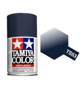 Bombe Peinture Tamiya  TS-53 Bleu Noire Métallique 100ml