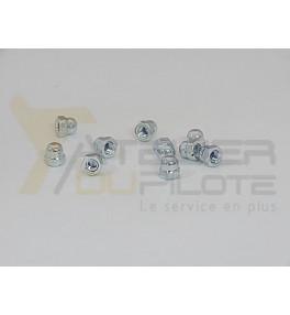 Ecrou hexagonal borgne M3 acier galvanisé
