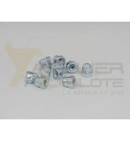 Ecrou hexagonal borgne M4 acier galvanisé