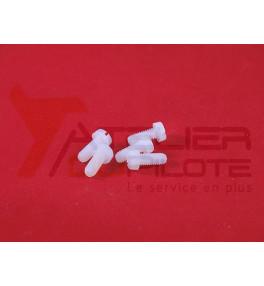 Vis nylon tête cylindrique M4x10