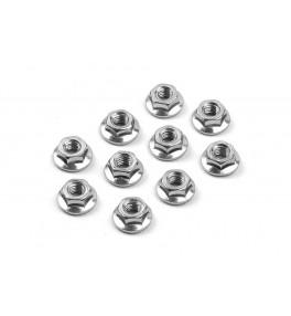 XRAY Nut M4 flange(10) 960240