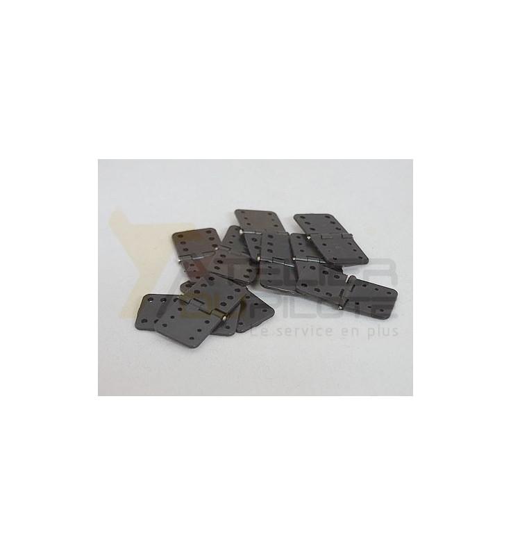 Charnières en nylon axe métal grand modèle (10 pces)