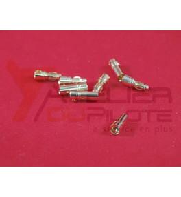 Connecteur or 3,5mm male + femelle (4 paires)
