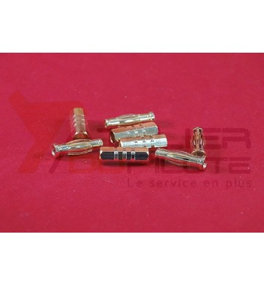 Connecteur or 4mm Car M+F