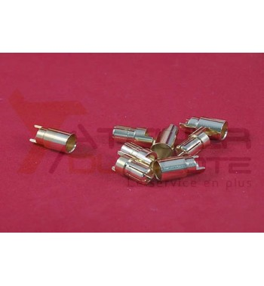 Connecteur or 6mm mâle + femelle (4 paires)