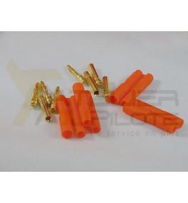 Connecteur or 2mm avec fiche plastique