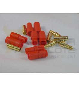Connecteur or 3.5mm avec fiche plastique
