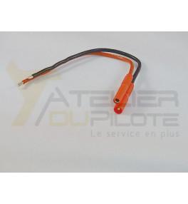 Connecteur or 2mm femelle 20AWG 10cm
