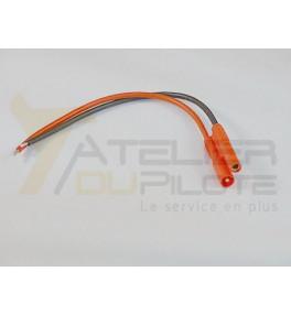 Connecteur or 2mm mâle 20AWG 10cm