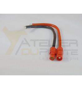 Connecteur or 3.5mm mâle 14AWG 10cm
