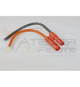 Connecteur or 4mm mâle 14AWG 10cm