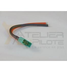 Connecteur MPX femelle 14AWG 10cm