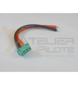 MPX mâle câble silicone 14AWG 10cm
