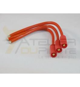 Connecteur or 3.5mm (3 pins) mâle 14AWG 10cm