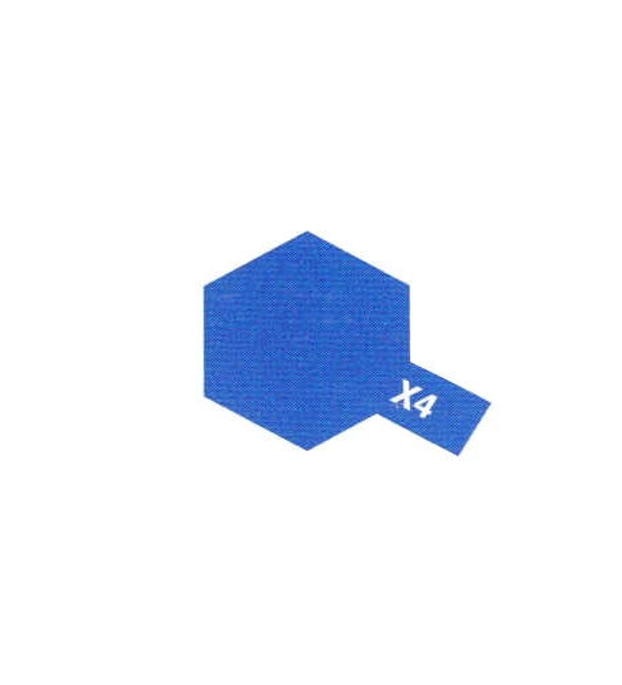 TAMIYA X4 Bleu Brillant Pot De 10ml
