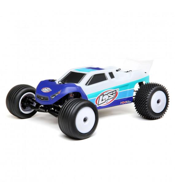 copy of LOSI Mini-T 2.0 stadium truck Brushless 1/18 RTR bleu  LOS01019T2