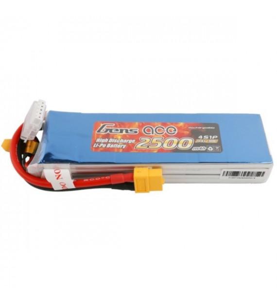 GENS ACE Batterie Lipo 4S 14,8V 2500mAh 30C XT60 GE1-2500-4X